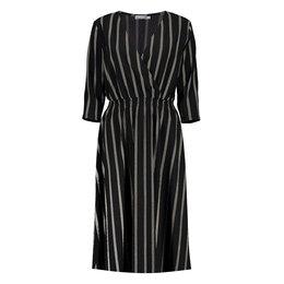 Geisha Dress Vertical Stripes