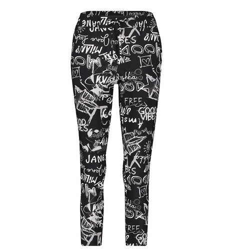 Jane Lushka Pants Adda Black White