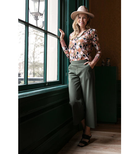 Studio Anneloes Hilde Bonded Trousers Green