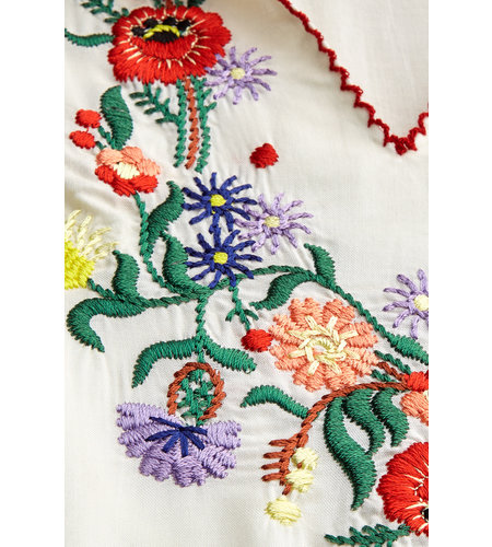 King Louie Lucy Embroidery Top Gardenia