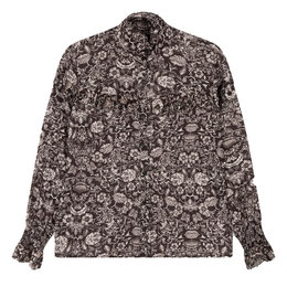 Alix The Label Woven Flower Linen Blouse