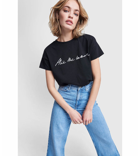 Alix The Label Knitted Alix The Label T-Shirt Black