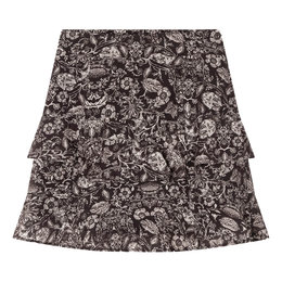 Alix The Label Woven Flower Linen Skirt