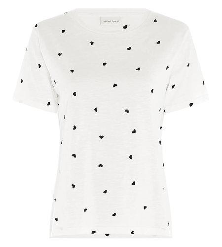 Fabienne Chapot Phil Heart T Shirt Cream White