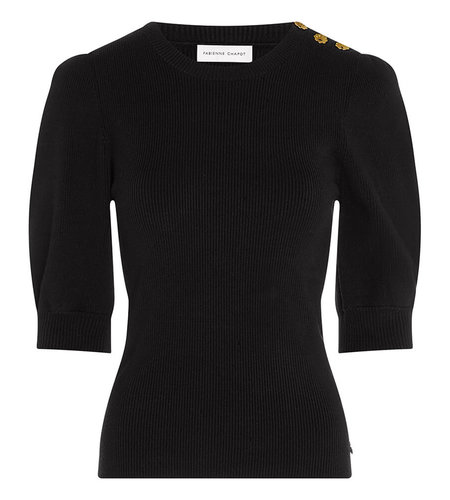 Fabienne Chapot Lillian Short Sleeve Pullover Black