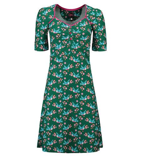 Tante Betsy Dress Lola Birds Blos Green