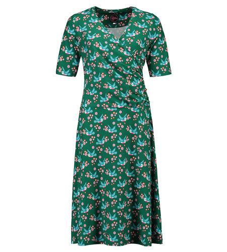 Tante Betsy Dress Salsa Birds Blos Green