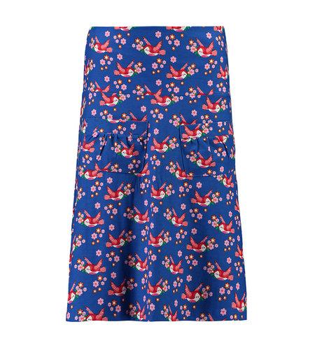 Tante Betsy Skirt Flow Birds Blos Blue