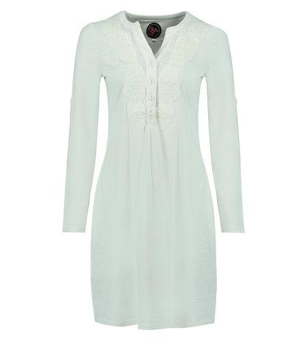 Tante Betsy Soup Dress White Slub Branch White