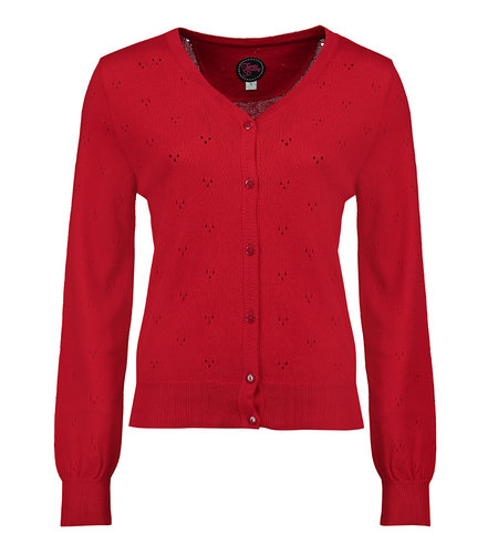 Tante Betsy Cardi Sissie Summer Red