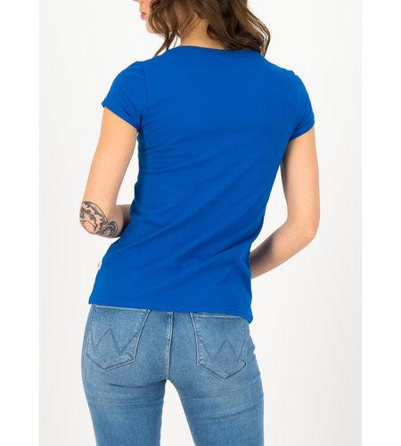 Blutsgeschwister Logo Shortsleeve Feminin Bright Blue