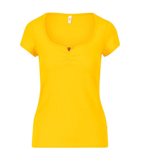 Blutsgeschwister Logo Shortsleeve Feminin Healing Yellow