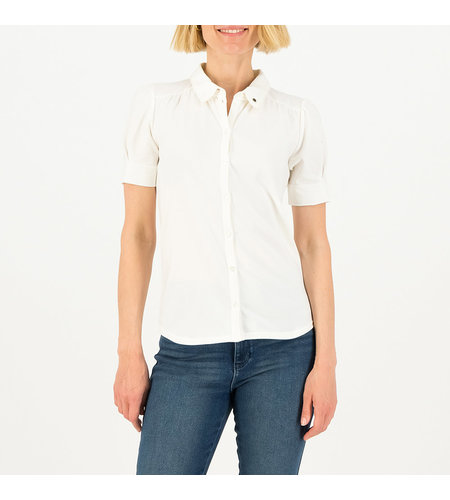 Blutsgeschwister Logo Blouse Essential White