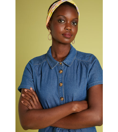 King Louie Olive Dress Chambray River Blue