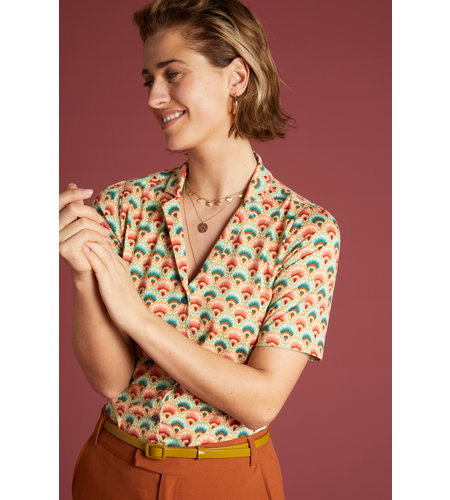 King Louie Patty Blouse Carmel Pearly Dew