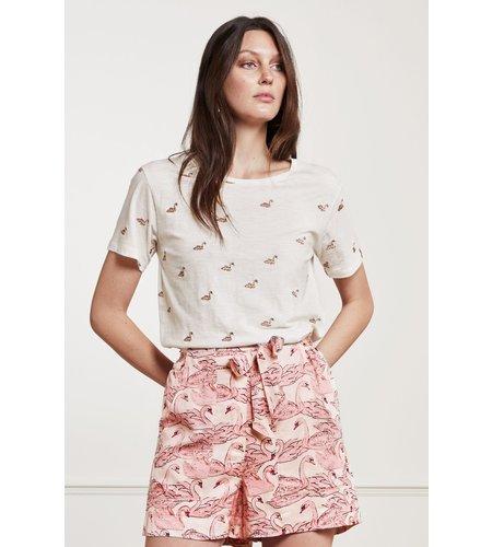 Fabienne Chapot Phil Swan T Shirt Cream White