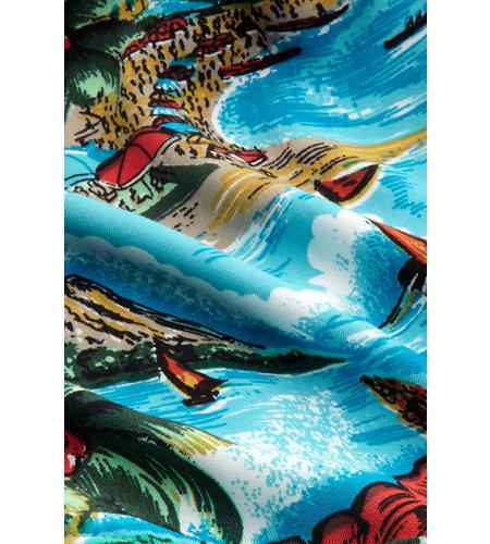 King Louie Chrissie Jumpsuit Great White Ocean Blue