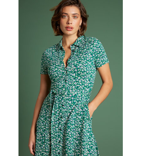 King Louie Olive Dress Perris Opal Green