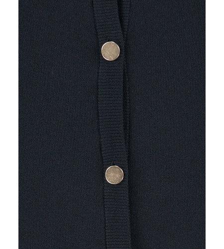Studio Anneloes Koko Button Cardigan Dark Blue