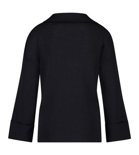 Studio Anneloes Momo Zip Pullover  Dark Blue