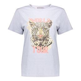 Geisha T-Shirt Garment Dyed Tiger Head Short Sleeve 12108-24