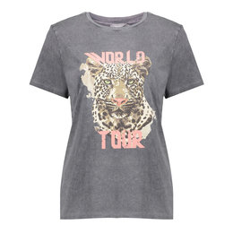 Geisha T-Shirt Acid Dyed Tiger Head Short Sleeve 12109-24