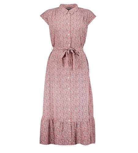 Geisha Long Dress All Over Print 17082-21 Pink Blue Ecru