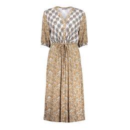 Geisha Dress Combi Print Strap At Waist 17135-20