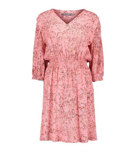 Geisha Dress All Over Print Flowers Elastic Waist 17136-20 Pink Combi