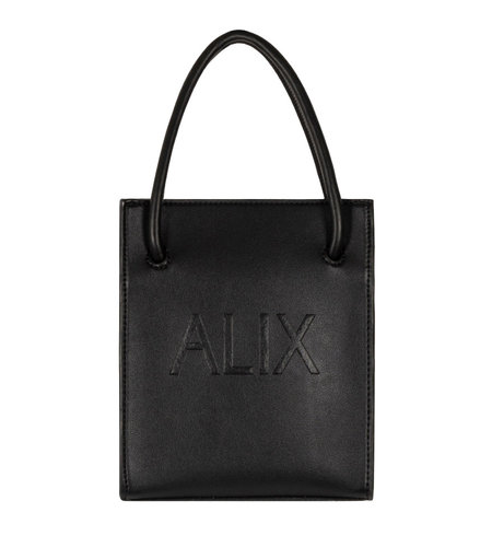 Alix The Label Small Faux Leather Alix Bag Black