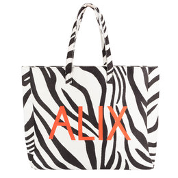 Alix The Label Woven Zebra Felted Alix Bag
