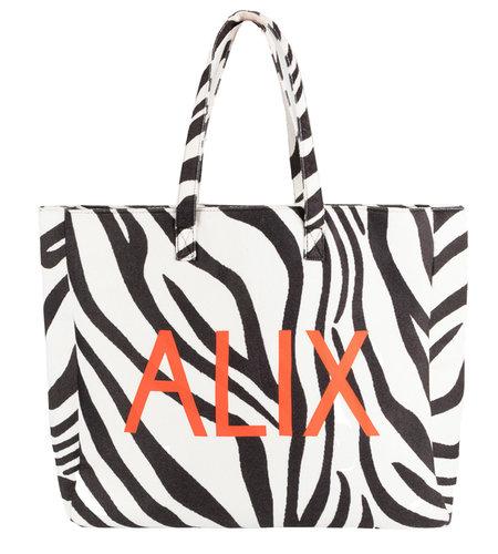 Alix The Label Woven Zebra Felted Alix Bag Black White