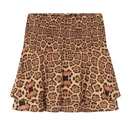 Alix The Label Woven Jaguar Short Skirt