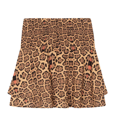 Alix The Label Woven Jaguar Short Skirt Animal