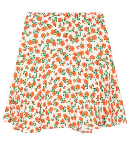 Alix The Label Woven Fresh Flower Short Skirt Creamy White