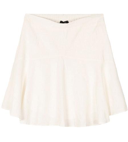 Alix The Label Woven Seer Sucker Stripe Skirt Soft White