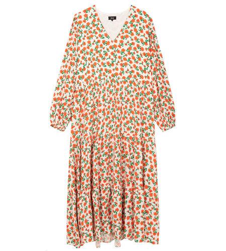 Alix The Label Woven Fresh Flower Maxi Dress Creamy White