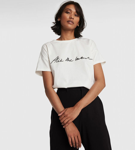 Alix The Label Knitted Alix The Label T-Shirt Soft White