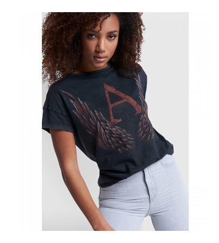 Alix The Label Knitted A Wings T-Shirt Black