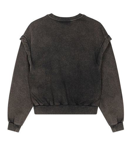 Alix The Label Knitted Alix University Sweater Charcoal Grey