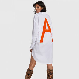 Alix The Label Woven Oversized A Long Blouse