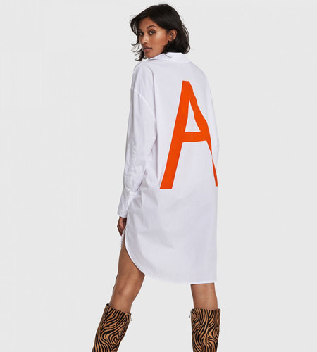 Alix The Label Woven Oversized A Long Blouse Soft White