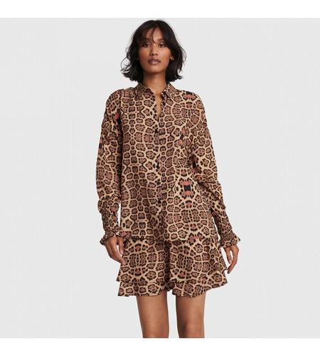 Alix The Label Woven Jaguar Blouse Animal