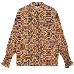 Alix The Label Woven Jaguar Blouse