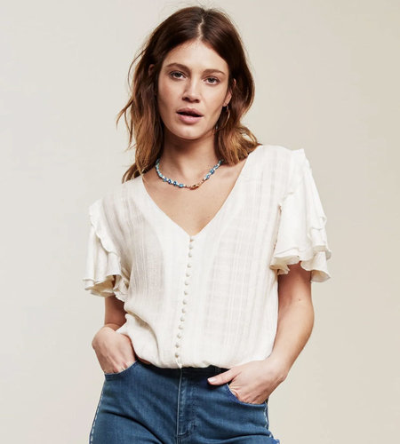 Fabienne Chapot Leo Summer Top Cream White