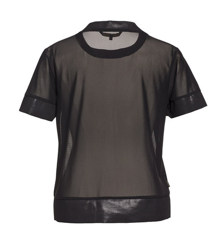 Goldbergh Maria Short Sleeve Top Black