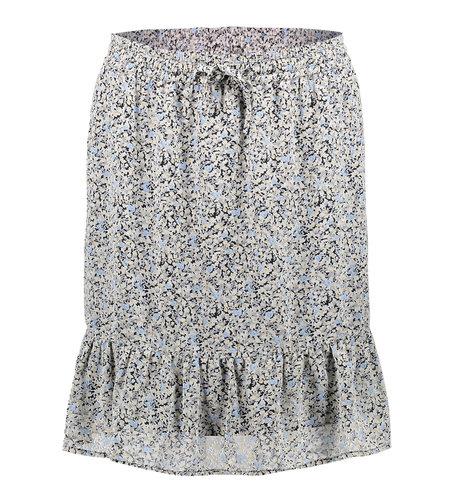 Geisha Skirt All Over Print Little Flowers Ruffle 16060-14 Ecru Blue Black