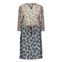 Geisha Dress Combi Print Animal Leaves 17138-20