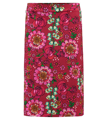 Tante Betsy Midi Skirt Mod Flowers Red