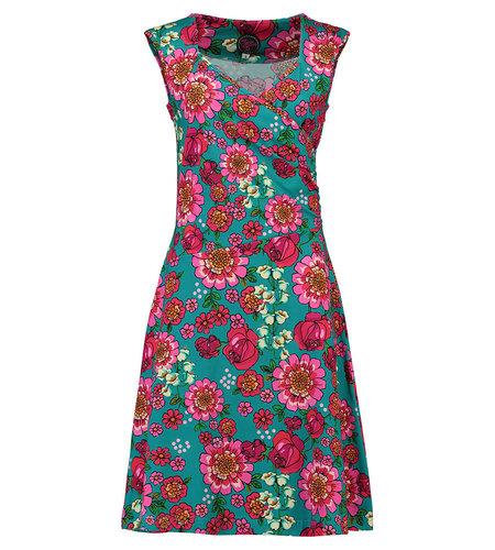 Tante Betsy Dress Lambada Mod Flowers Blue